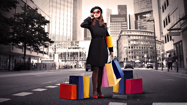 Women Shopping PNG HD - 126146