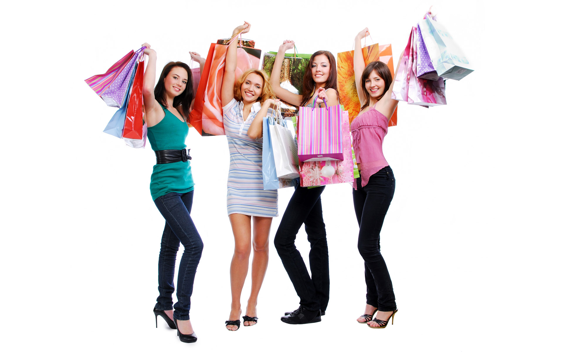 24192-hd-women-shopping - Women Shopping PNG HD