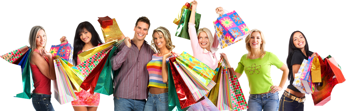 ONE STOP PLACE FOR - Women Shopping PNG HD