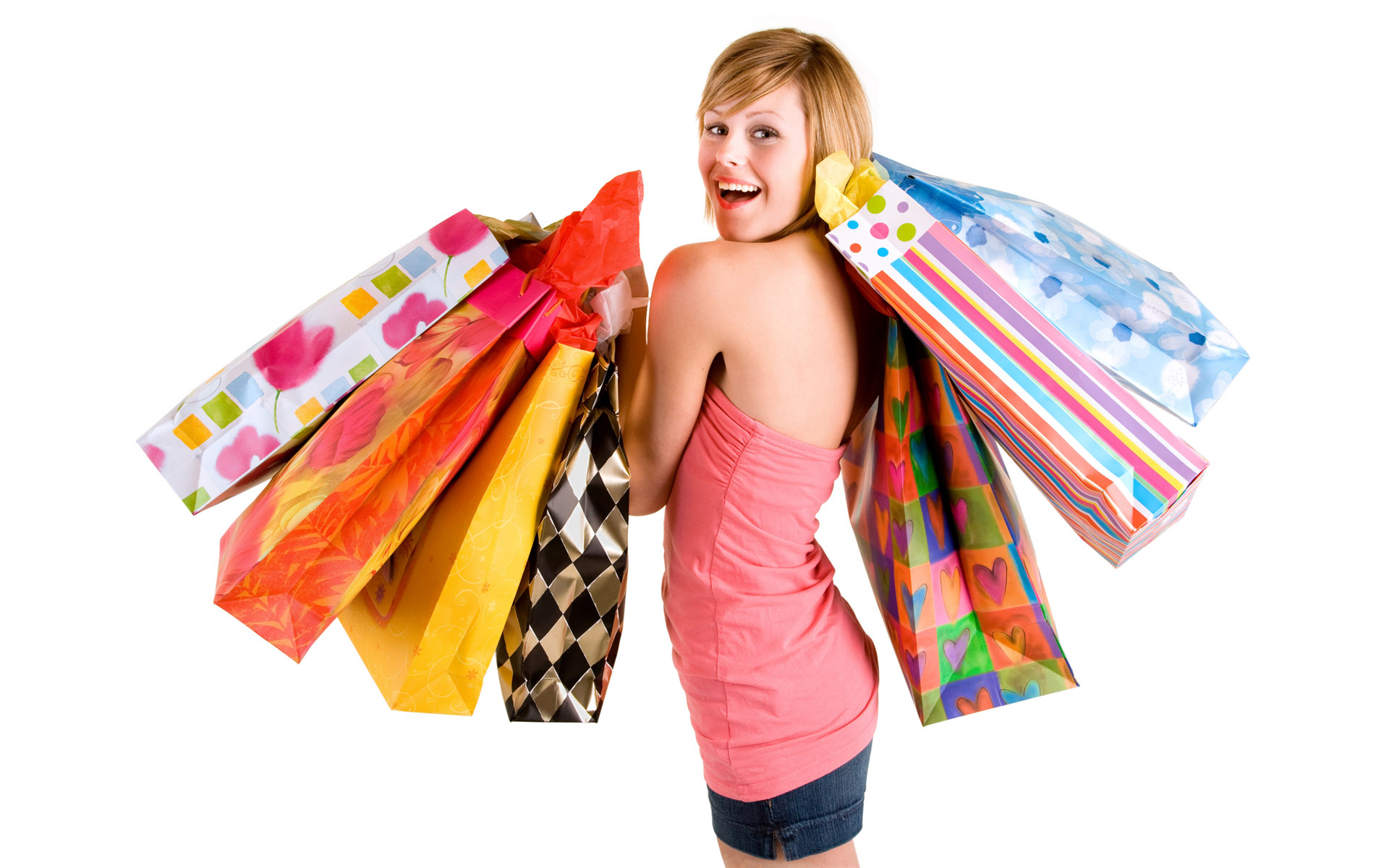 Totally, 100% Responsive Business - Women Shopping PNG HD