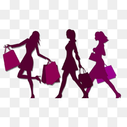 Woman Silhouette, Shopping Woman Silhouettes, Purple Silhouette Of A Woman  Shopping, Double Eleven · PNG - Women Shopping PNG HD