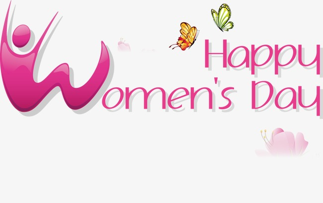 Happy Womenu0027s Day, Vector, Womenu0027s Day Text, Happy Vector Free PNG and  Vector - Womens Day PNG
