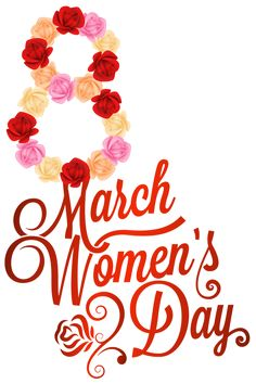 Red 8 March Womens Day PNG Clipart Image - Womens Day PNG