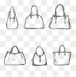 Vector stick figure bag, Hd, Vector, Women Bag PNG and Vector - Womensbag HD PNG