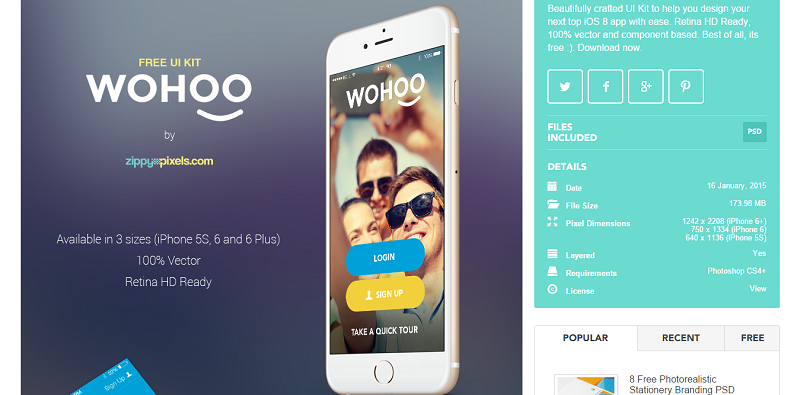 Woohoo is a UI kit for iOS. #webdesign #uikits #mobiledesign #1stwebdesigner - Woo Hoo PNG HD