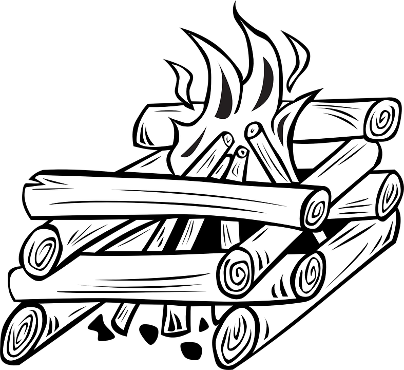 Wood Log PNG Black And White - 45148