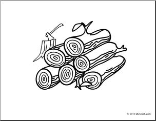 Clipart black wood - Wood Log PNG Black And White
