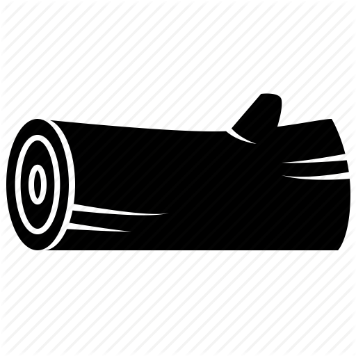Example 1 - Wood Log PNG Black And White