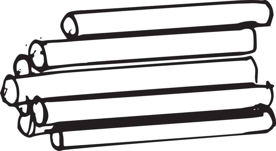 Wood Log PNG Black And White - 45151