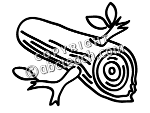 Wood Log PNG Black And White - 45143