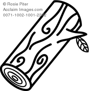 Wood Log PNG Black And White - 45142