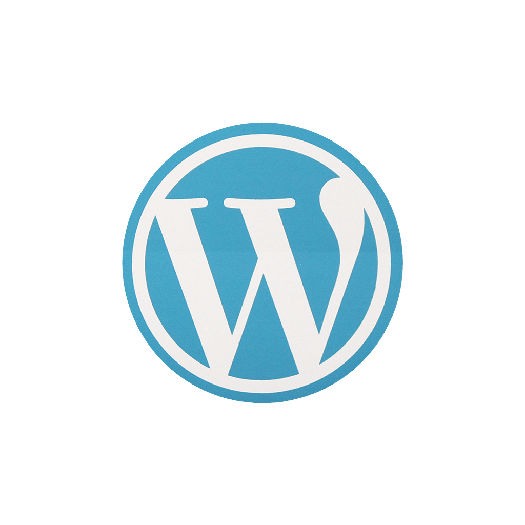 WordPress Round Sticker - Wordpress Logo PNG