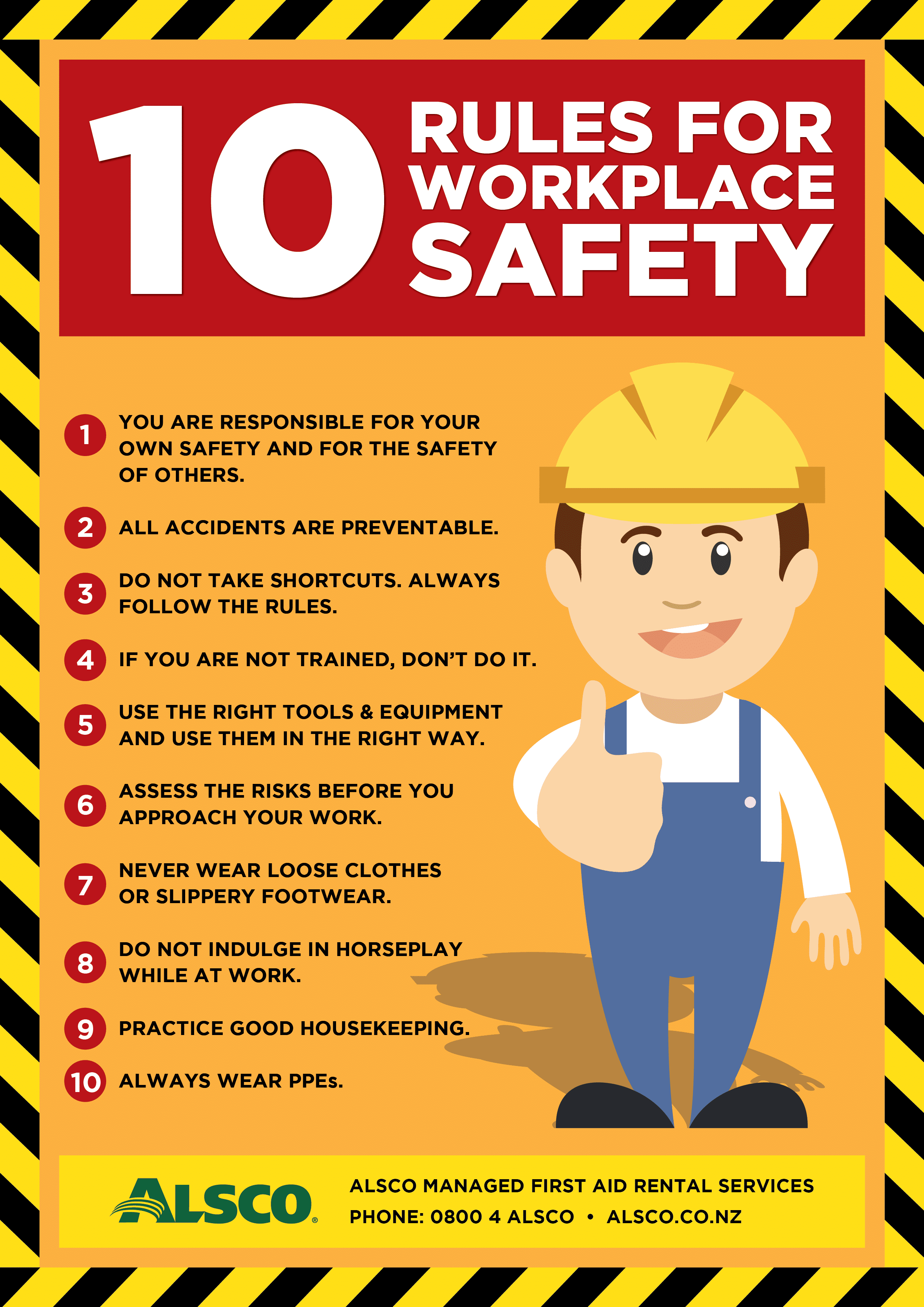 10 Rules For Workplace Safety - Workplace Safety PNG HD