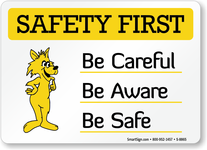 Cartoon Safety Signs - MySafetySign pluspng.com - Workplace Safety PNG HD