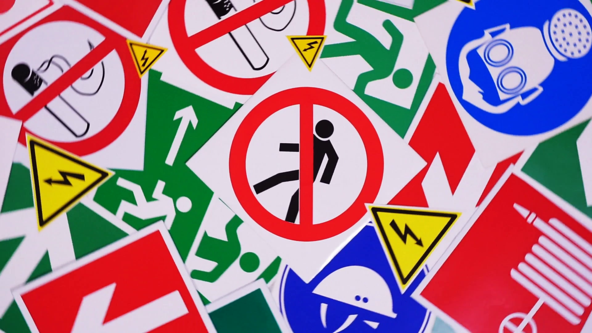 Safety signs and symbols. Health and safety signs and symbols in the  workplace Motion Background - VideoBlocks - Workplace Safety PNG HD