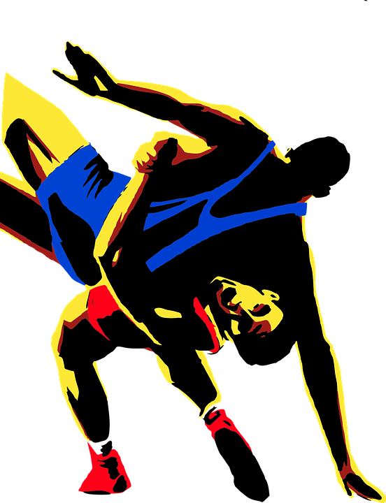 Wrestling, Sport, Men, Drawing, Transparent, Fight - Wrestling HD PNG