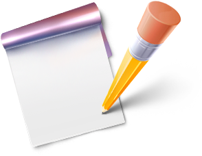 Available in 2 Sizes. Note blog edit write - Writing A Note PNG