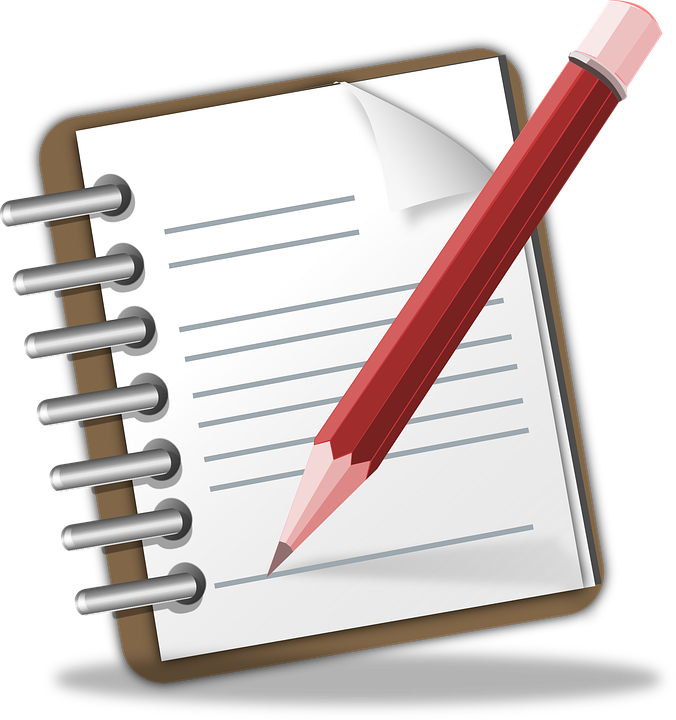 notepad memo pencil writing note author publish - Writing A Note PNG