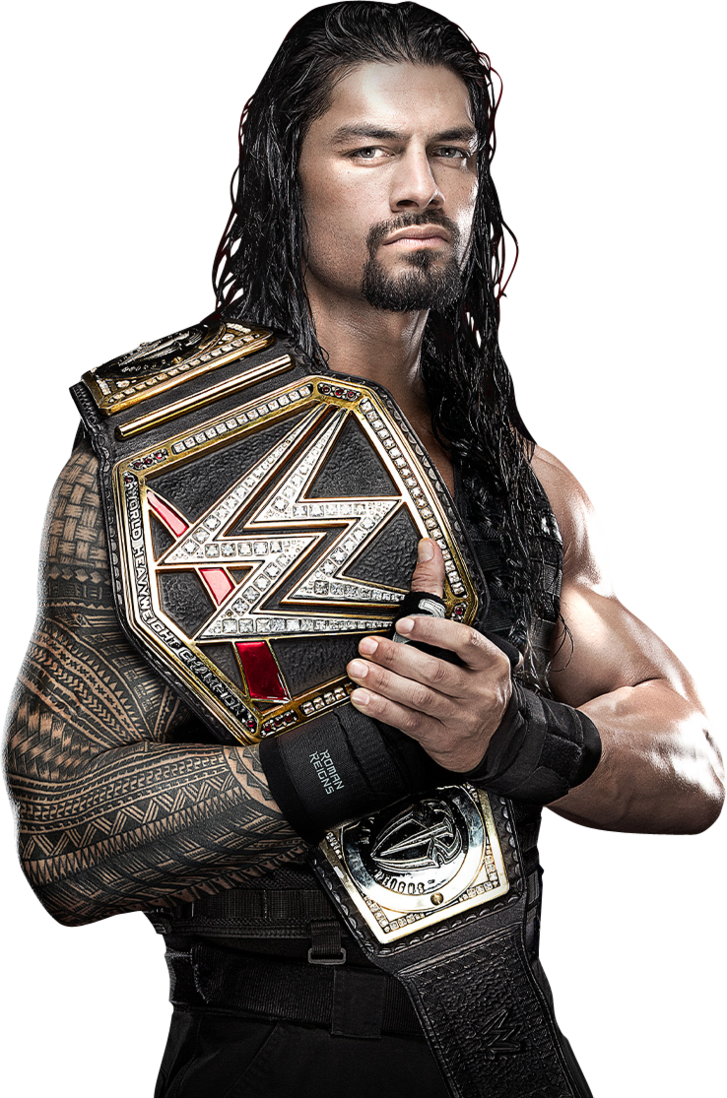 Roman Reigns WWE Champions (Photomontage) by WWEPNGUPLOADER PlusPng.com  - Wwi PNG HD