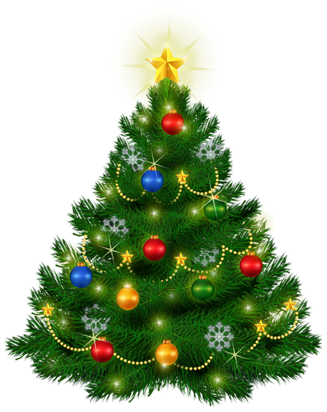 Beautiful Christmas Tree PNG Clipart Image - X Mas Tree PNG