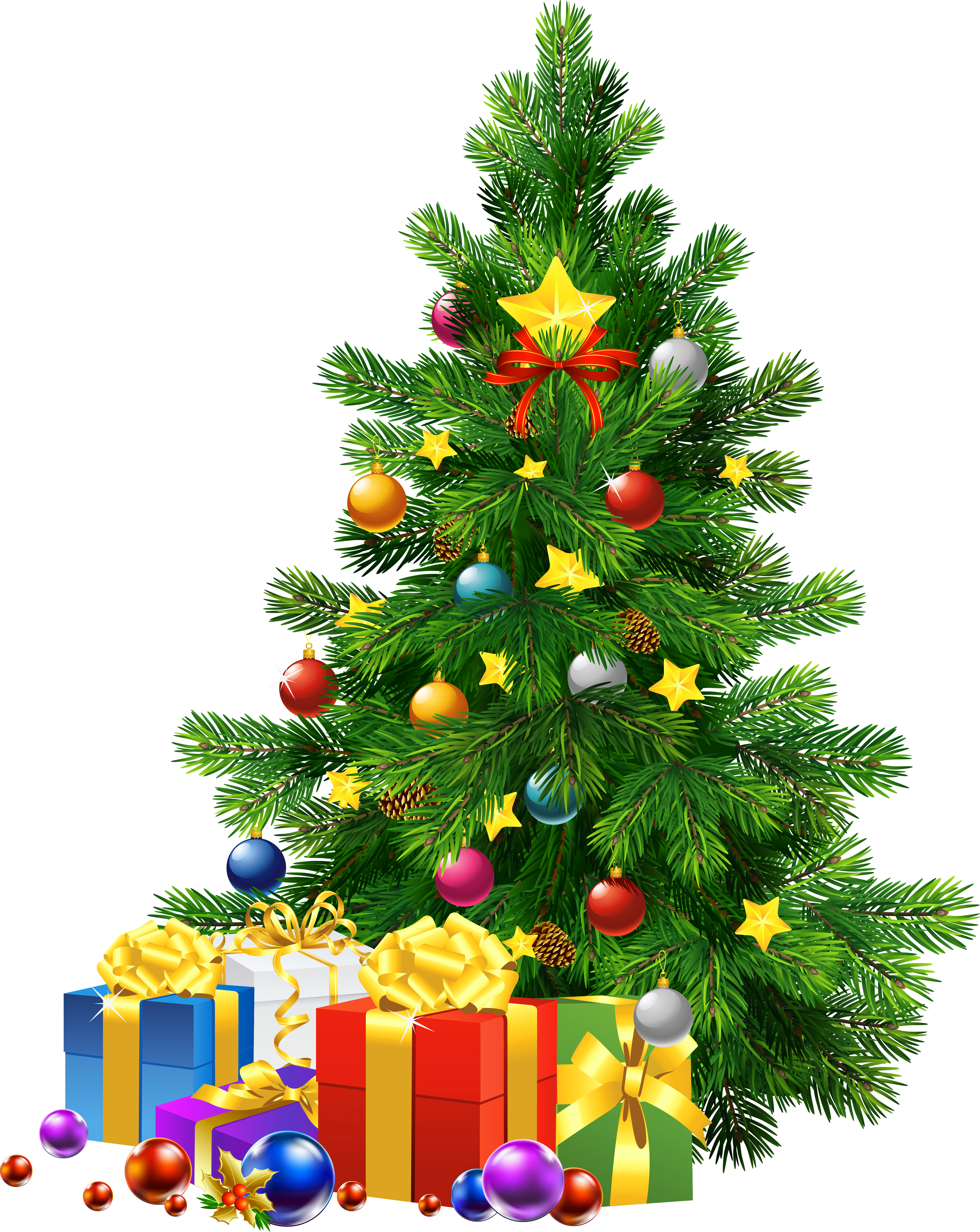 Christmas Tree With Presents Clip Art (21) - X Mas Tree PNG