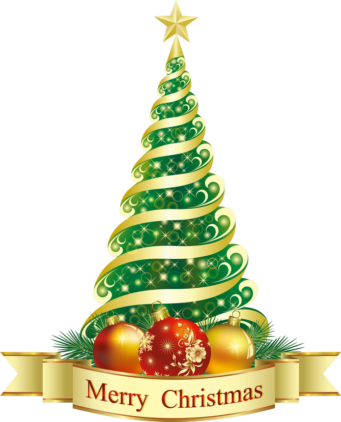 Merry Christmas Green Tree PNG Clipart - X Mas Tree PNG