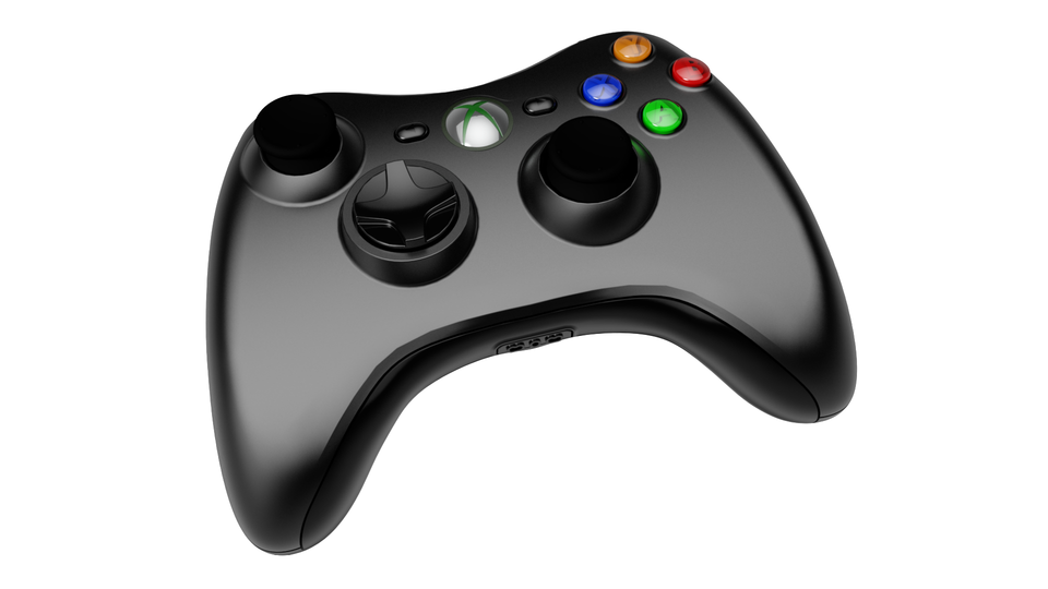 Xbox 360 Controller (Black) - AutoCAD,STEP / IGES - 3D CAD Model - GrabCAD - Xbox 360 Controller PNG