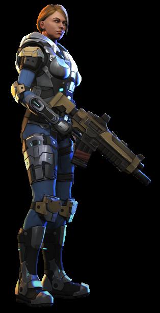 XCOM(EU) Soldier CarapaceArmor.png - Xcom PNG