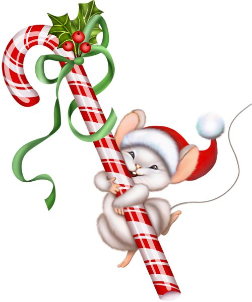 Christmas Mouse Clip Art | Gallery Free Clipart Pictureu2026 Christmas PNG  Christmas Candy Caneu2026 - Xmas Images Free PNG
