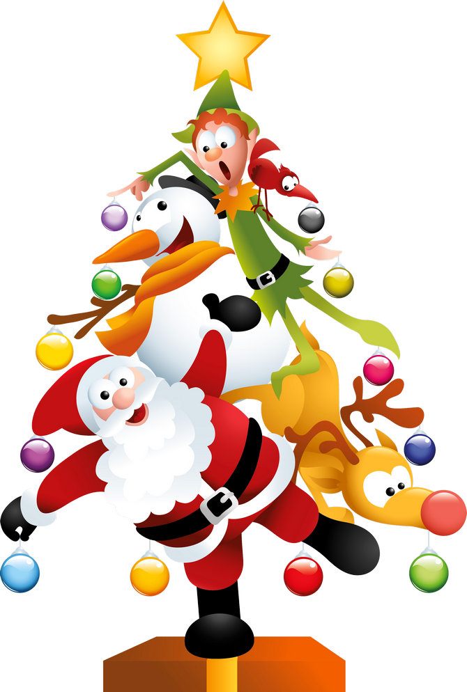 Free images of: Funny Transparent Christmas Tree PNG Clipart - - Xmas Images Free PNG