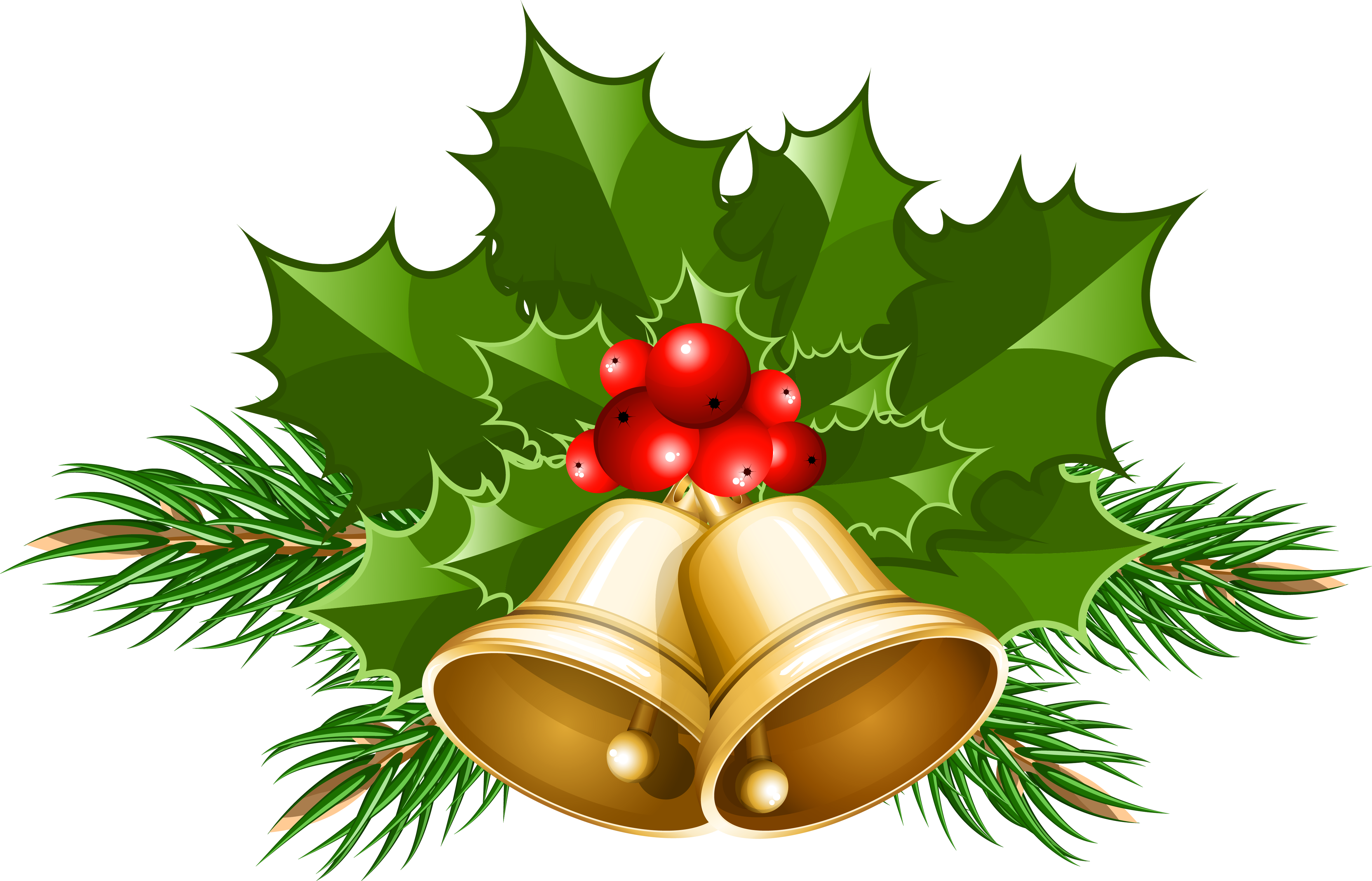Large Transparent Christmas Bells PNG Clipart - Xmas Images Free PNG