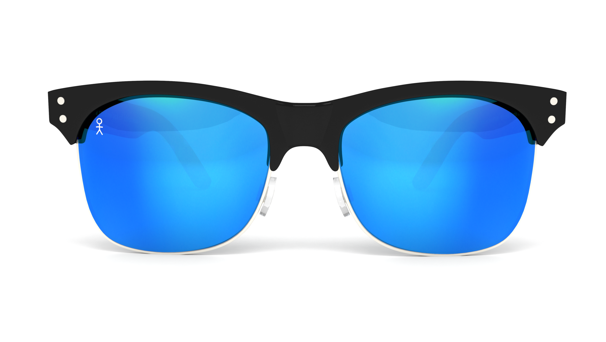 . PlusPng.com Yachtmaster - BVI - Matte Black With Blue Mirrored Lens - Dicks Cottons  Sunglasses - 1 PlusPng.com  - Sunglasses PNG