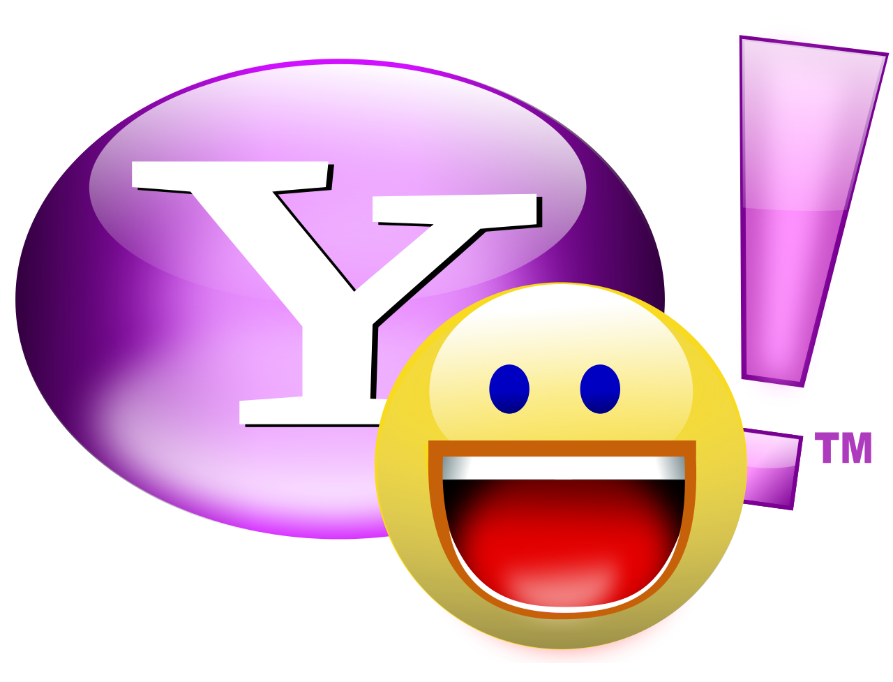 Yahoo Messenger to Shut Down - Yahoo Old Logo Vector PNG