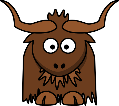 yak cartoon - /cartoon/animals/assorted_animal_cartoons/yak_cartoon.png.html - Yak Animal PNG