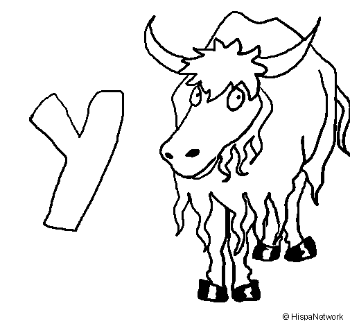 Yak PNG Black And White - 41896