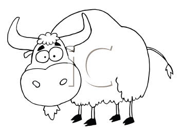 Clip Arts Related To : Clipart - Yak - Yak PNG Black And White