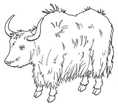 Clipart Info - Yak PNG Black And White