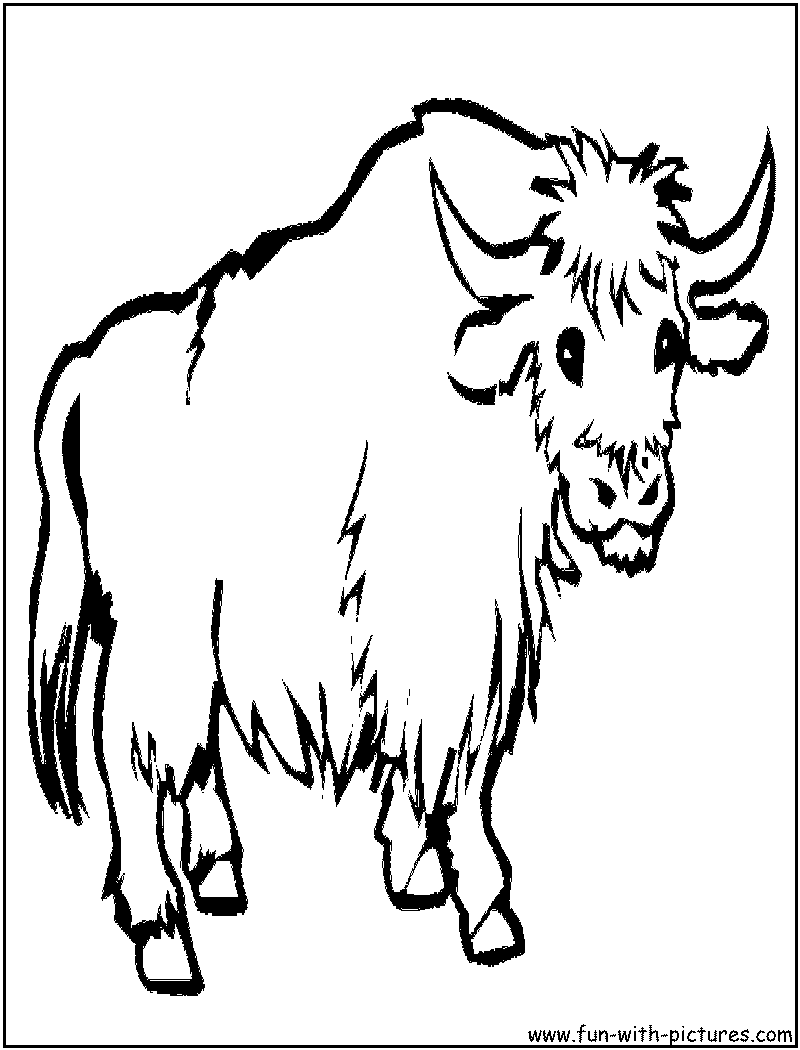 Yak PNG Black And White - 41888