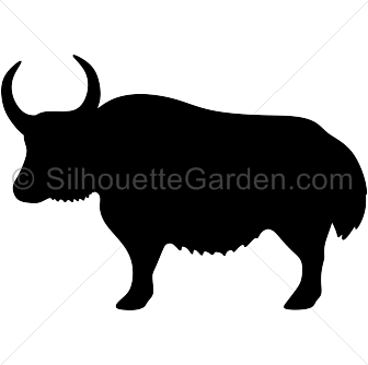 Yak Silhouette - Yak PNG Black And White