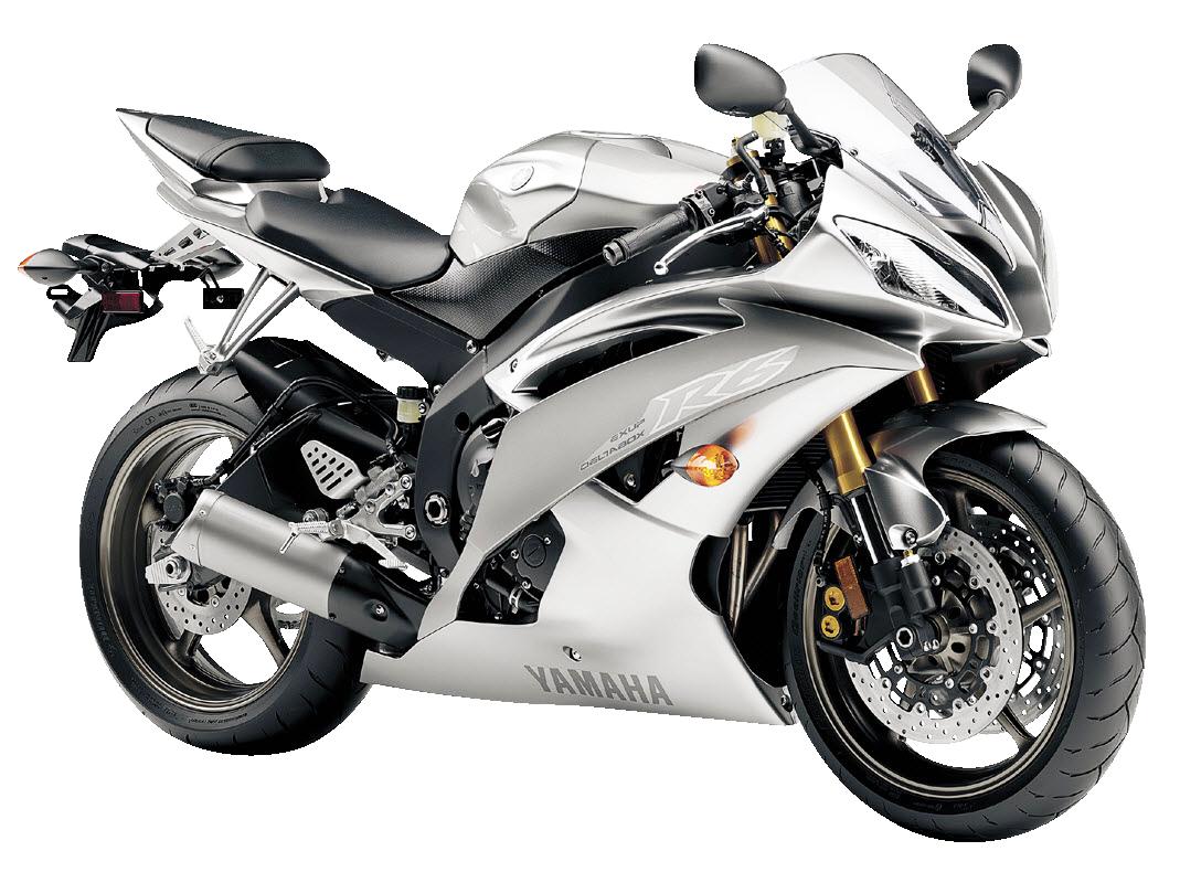 Yamaha R6 Liquid Silver Motorcycle Bike PNG Image - Yamaha PNG