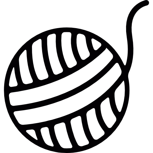 Yarn PNG Black And White - 40735