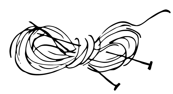 Free Vector Art: Knitting Needles and Yarn - Yarn PNG Black And White