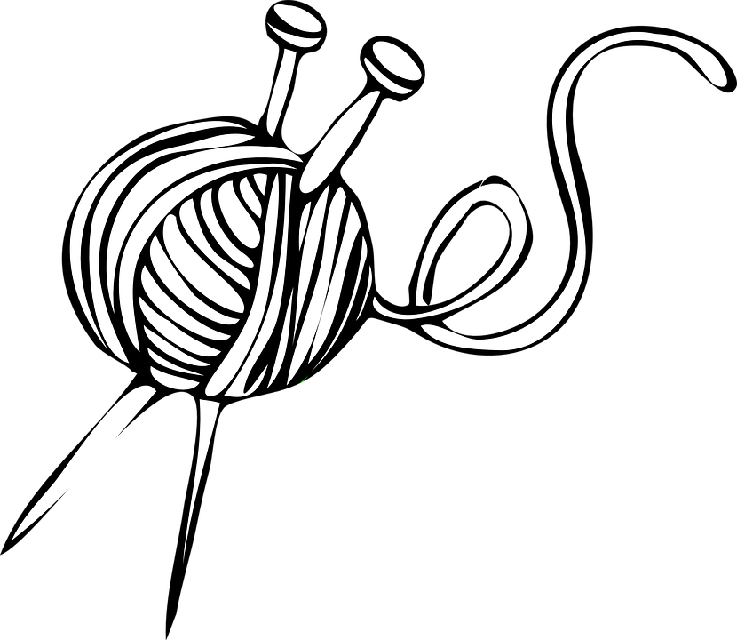 Yarn PNG Black And White - 40733