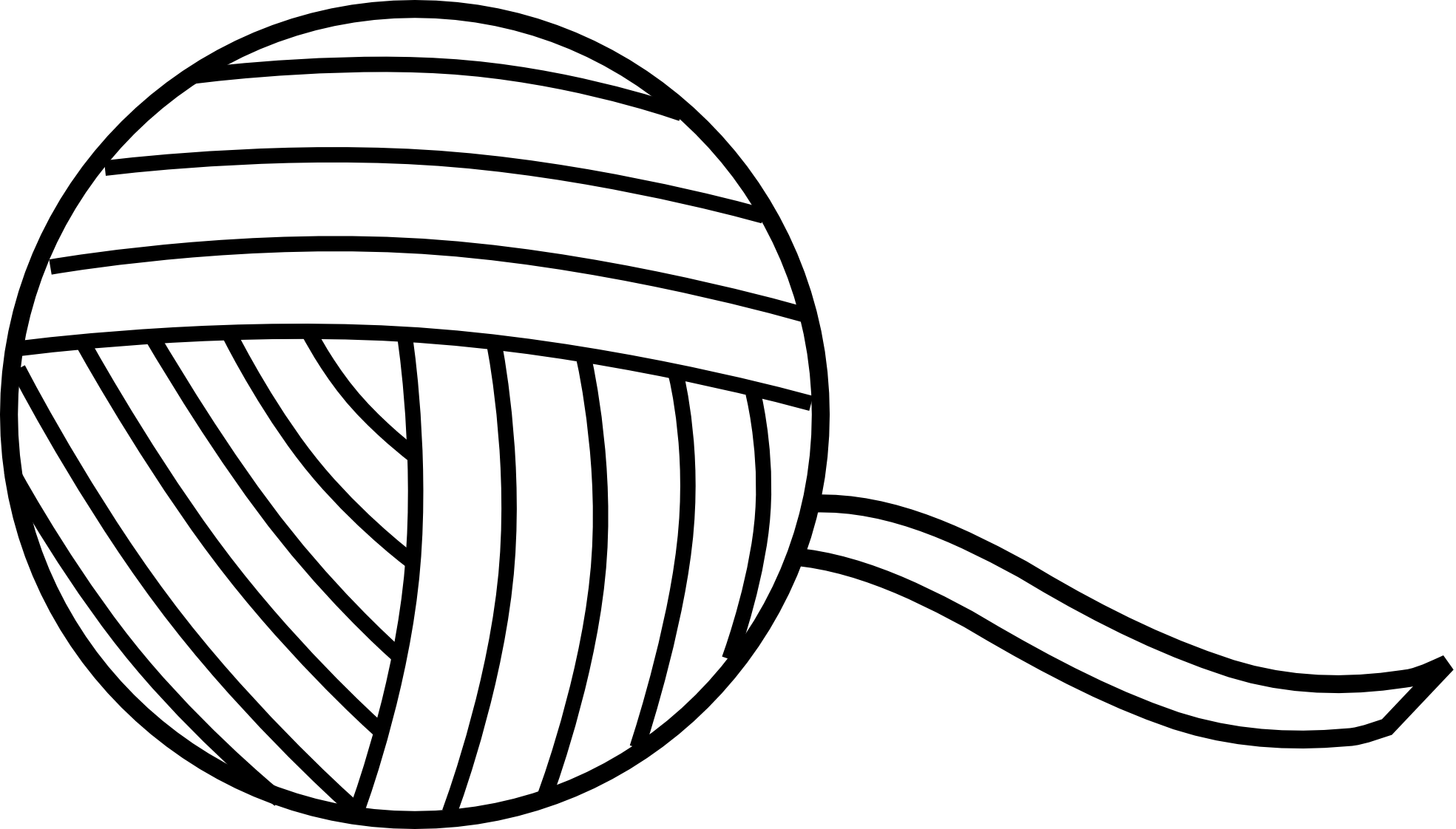 yarn clipart black and white - Yarn PNG Black And White