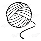 Yarn Ball Yarn Ball Yarn Ball PlusPng.com  - Yarn PNG Black And White