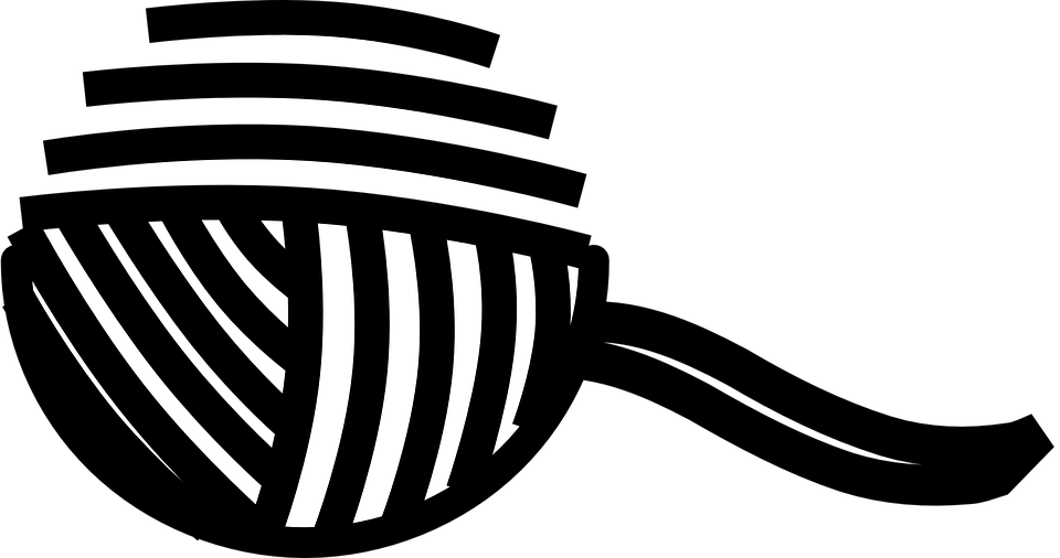 Yarn PNG Black And White - 40729