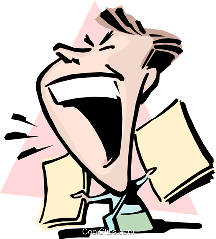 Cartoon man yelling Royalty Free Vector Clip Art illustration cart0812 - Yelling PNG Free