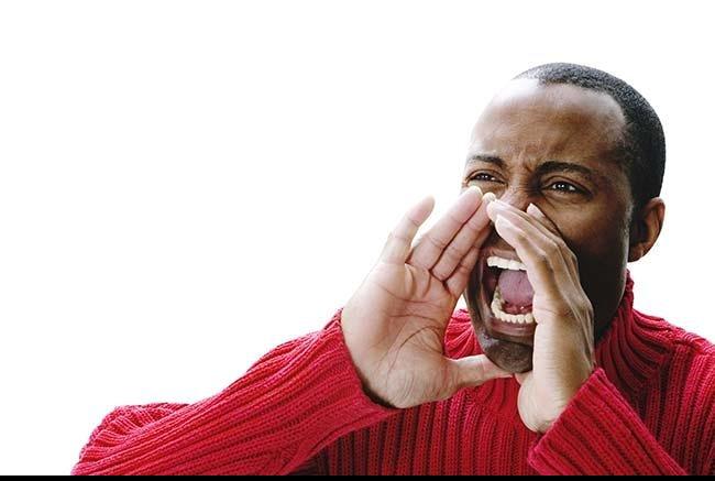 File:Man yelling.png - Yelling PNG Free