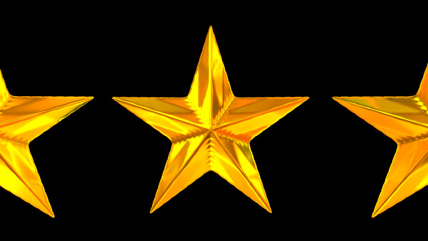 Animated rotating golden stars against transparent background 2 (Alpha  channel embedded with HD PNG file - Yellow Stars PNG HD