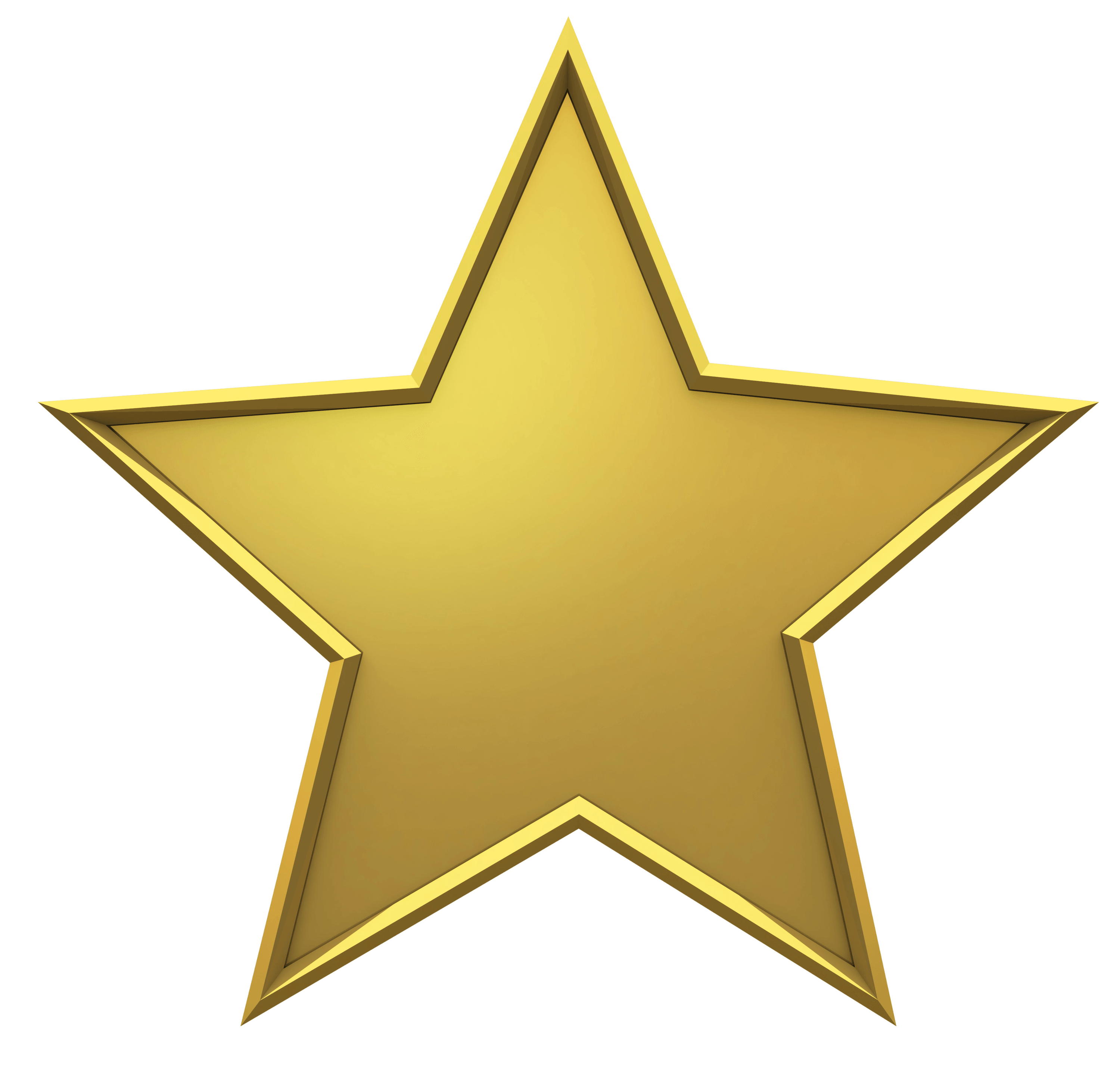 Hollywood Gold Star - Yellow Stars PNG HD